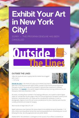 Exhibit Your Art in New York City!