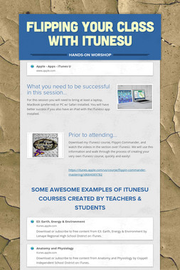 Flipping your class with iTunesU