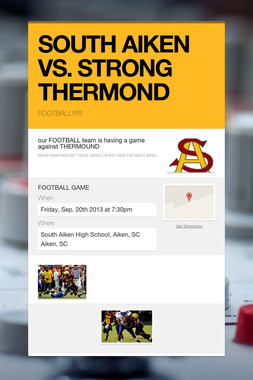 SOUTH AIKEN VS. STRONG THERMOND