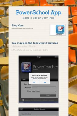 PowerSchool App