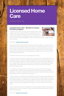 Licensed Home Care