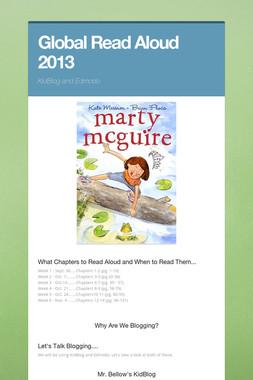 Global Read Aloud  2013