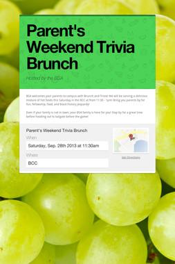Parent's Weekend Trivia Brunch