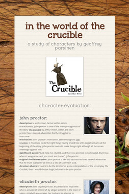 in the world of the crucible