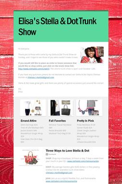 Elisa's Stella & Dot Trunk Show