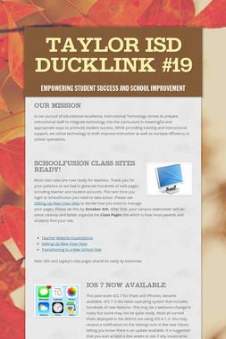 Taylor ISD DuckLink #19