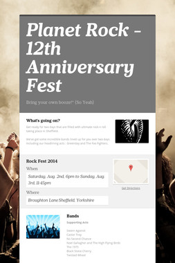 Planet Rock - 12th Anniversary Fest