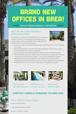 BRAND NEW OFFICES IN BREA!