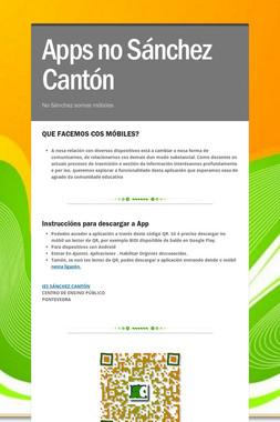 Apps no Sánchez Cantón