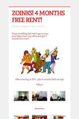 ZOINKS! 4 MONTHS FREE RENT!