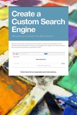 Create a Custom Search Engine