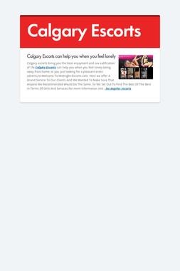 Calgary Escorts