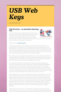 USB Web Keys