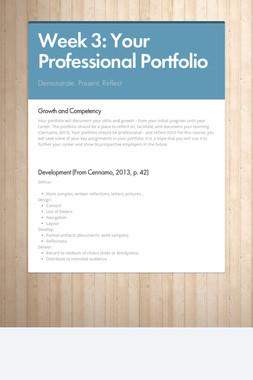Week 3: Your Professional Portfolio