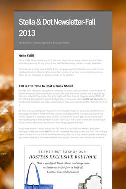 Stella & Dot Newsletter-Fall 2013