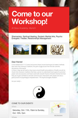 Come to our Workshop!