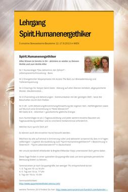 Lehrgang Spirit.Humanenergethiker