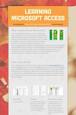 Learning Microsoft Access
