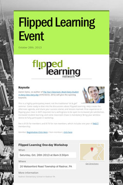 Flipped Learning Event