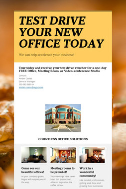 TEST DRIVE YOUR NEW OFFICE TODAY