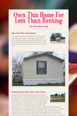 Own This Home For Less Than Renting