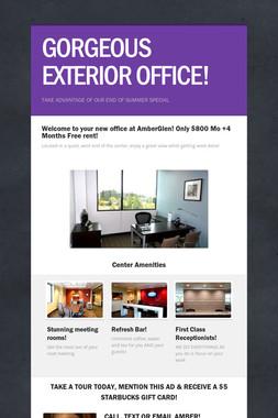 GORGEOUS EXTERIOR OFFICE!