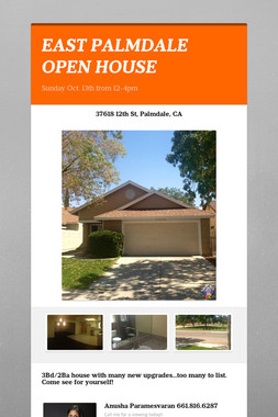 EAST PALMDALE OPEN HOUSE