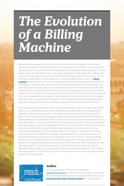 The Evolution of a Billing Machine