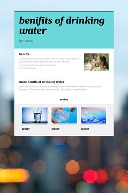 benifits of drinking water