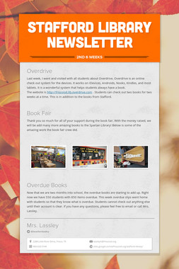 Stafford Library Newsletter