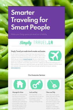 Smarter Traveling for Smart People