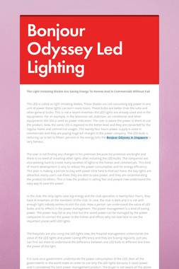 Bonjour Odyssey Led Lighting