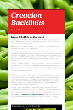 Creacion Backlinks