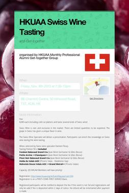 HKUAA Swiss Wine Tasting