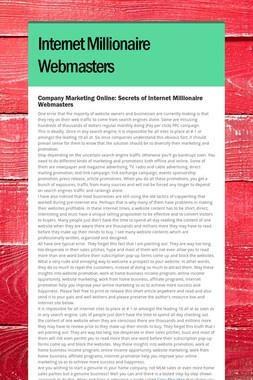 Internet Millionaire Webmasters