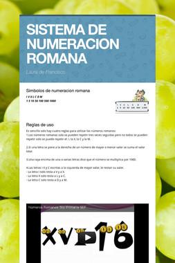 SISTEMA DE NUMERACION ROMANA