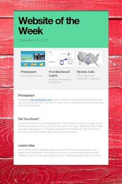 Website of the Week