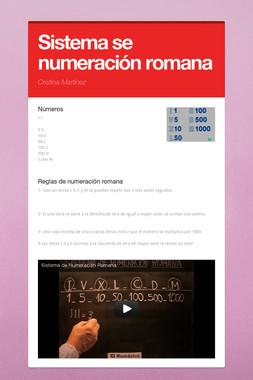 Sistema se numeración romana