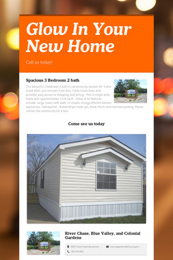 Glow In Your New Home
