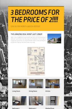 3 BEDROOMS FOR THE PRICE OF 2!!!!