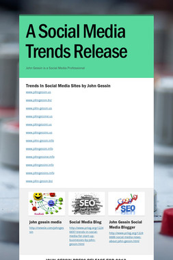 A Social Media Trends Release