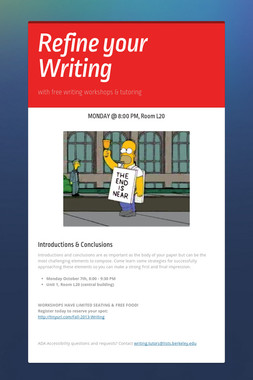 Refine your Writing
