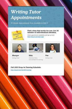 Writing Tutor Appointments