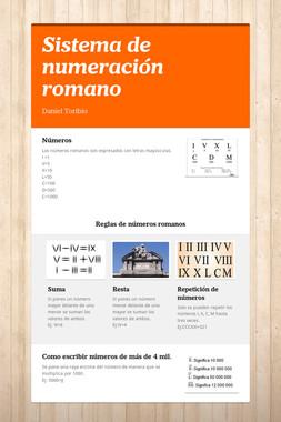 Sistema de numeración romano