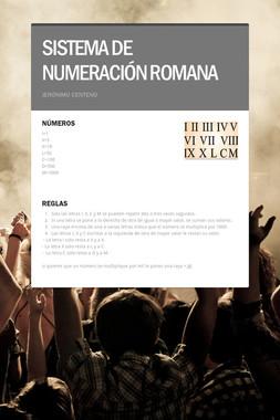 SISTEMA DE NUMERACIÓN ROMANA