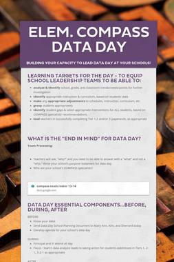 Elem. COMPASS Data Day