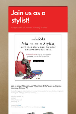 Join us as a stylist!