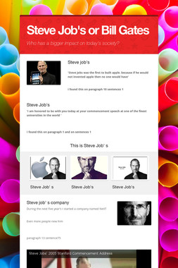 Steve Job's or Bill Gates