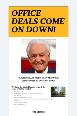 OFFICE DEALS COME ON DOWN!