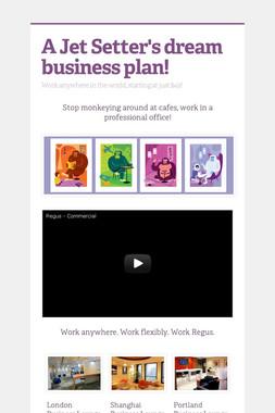 A Jet Setter's dream business plan!